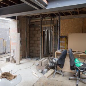 Building work on a regeneration project